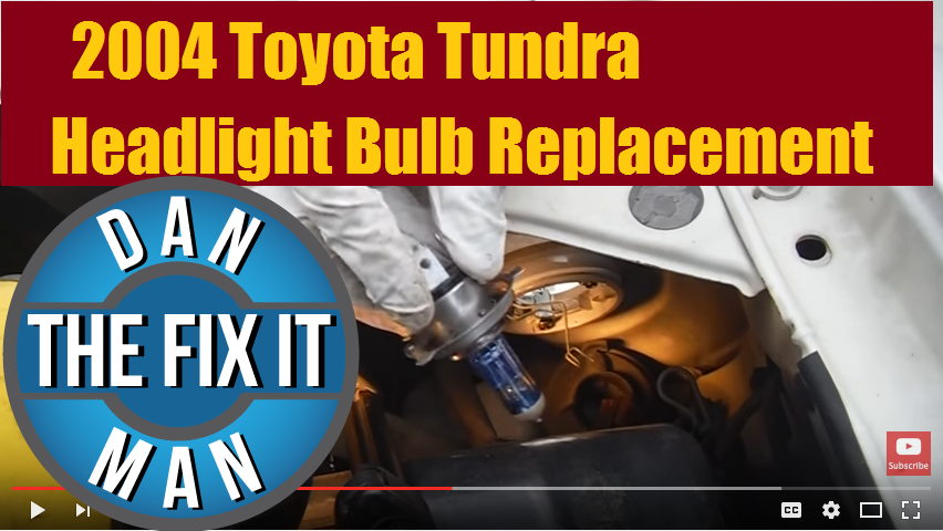 Just A Quick Video Showing How Easy It Is To Replace Headlight Bulb On 2000 2006 Toyota Tundra This 2004 Doublecab