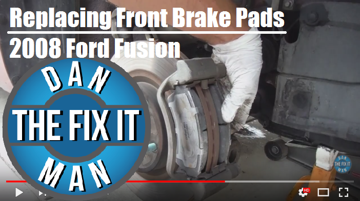 2008 Ford Fusion Front Brake Pad Replacement – Dan the Fix-it Man